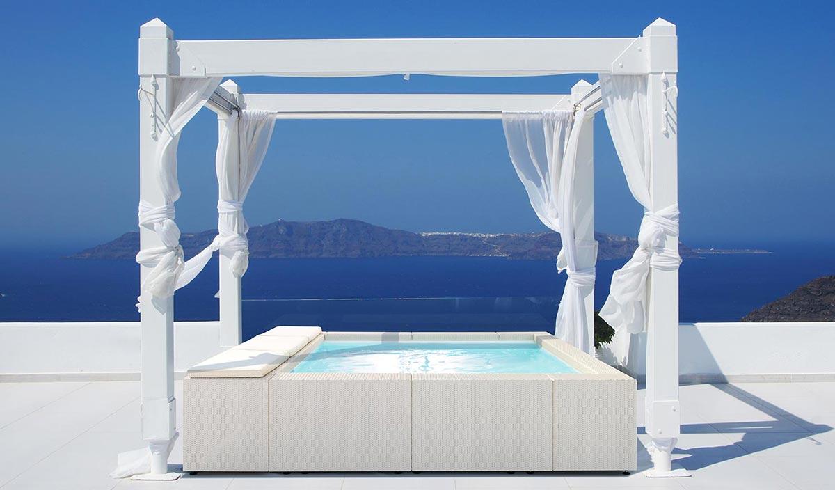 Mini piscina playa idromassaggio laghetto cta piscine for Laghetto da interno